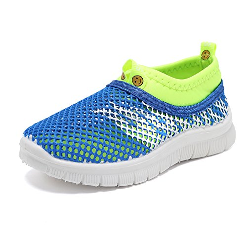 CIOR Kids Light Weight Sneakers AquaShoes Breathable Slip-On For Running Pool Beach Toddler/Little Kid,S644Blue,31 0