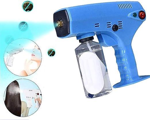 JYZ 280Ml Desinfección Azul Claro Nano Vapor Pistola De Pelo Máquina De Pulverización Ultra Fino Aerosol Agua Nebulizada Atomizador Purificador De Aire para El Hogar Oficina: Amazon.es: Hogar