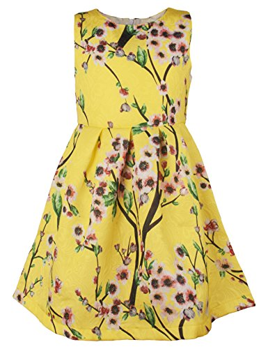 - Ipuang Little Girls' Lovely Flower Pattern Dresses for Special Occasions 2T Yellow