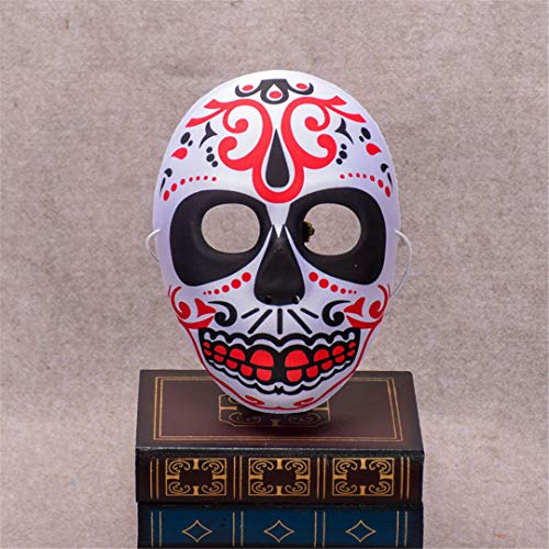Halloween Skull Mask Painted Peking Opera Mask Fullface Party Adult Kids Terror Gorgeous Supplies Ghost Masquerade Day Dead MaskA -
