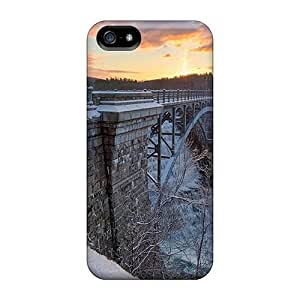 Faddish Phone Tall Steel Bridge Over Waterfall In Winter Case For Iphone 5/5s / Perfect Case Cover