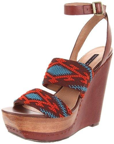 Steven by Steve Madden Women's Bernidet Ankle-Strap Sandal,Multi Fabric,9.5 M US