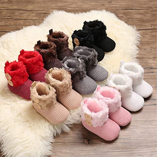 BENHERO Infant Baby Boys Girls Boots Premium Soft Sole Anti-Slip Warm Winter Snow Boots Newborn Crib Shoes