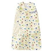 Halo SleepSack 100% Cotton Swaddle, Yellow Sheep, Newborn