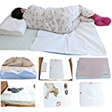 "GET 2 Protective Bed PAD Sizes 36"" x 34"" and 52' x 34' Reusable Wetting Underpad Quilted Waterproof Washable Sheet Protector Children Adults Elderly Pet Incontinence 8 Cups Absorbency 450+ Times"