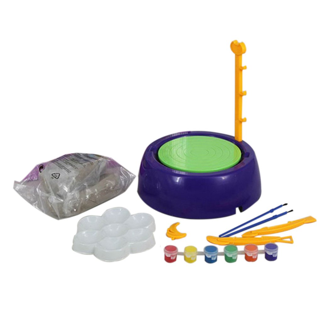 MagiDeal Children's Artistic Fun Creative Pottery Machine Developmental Art Toy Gift