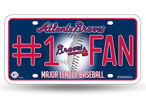 Atlanta Braves Sports Plate - MLB Atlanta Braves #1 Fan Metal Tag