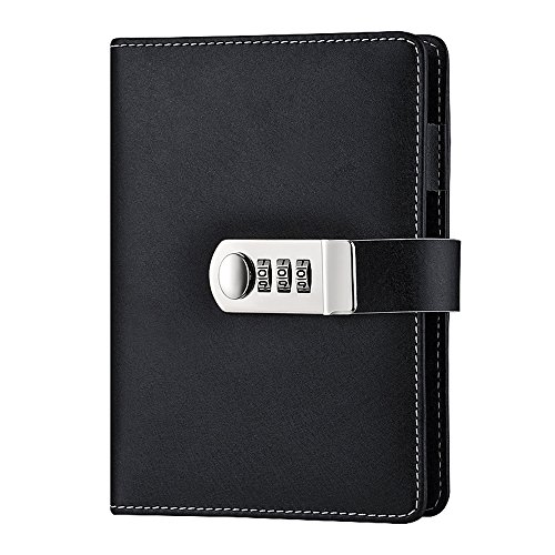 Cheap  ToiM Macaroon Color PU Leather A6 Loose-leaf Locking Binder Journal With Combination..