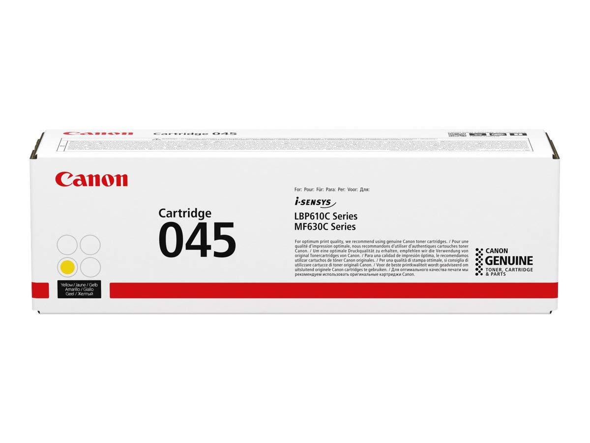 Canon 045 Laser cartridge 1300pages Jaune Jaune, Canon, LBP610C, 1 pi/èce s , Laser cartridge, 1300 pages cartouches toner et laser