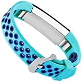 For Fitbit Alta HR and Alta Bands, Maledan Replacement Accessory Sport Bands With Air Holes for Fitbit Alta and Alta HR, Large