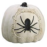 6''Hx6''W Artificial Spider Pumpkin -White/Black (pack of 4)
