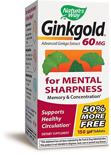 Ginkgold 60 Mg 50 Tablets (Nature's Way Ginkgold, 60 mg, 150)