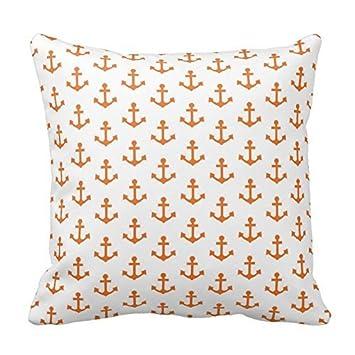 Amazon.com: Anclajes náutico brillante, naranja y blanco ...