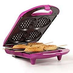 With the Holstein Housewares Heart Shaped Waffle Maker, you'll be sure to wow your loved one. It is simple to use and saves you time, money and energy. In three easy steps you can bake 4 delicious waffles to enjoy. The Heart Shaped Waffle Maker has n...
