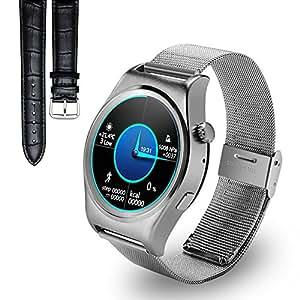Reloj inteligente, Yarrashop? Lujo Bluetooth 4.0 SmartWatch con correas de cuero reloj de pulsera