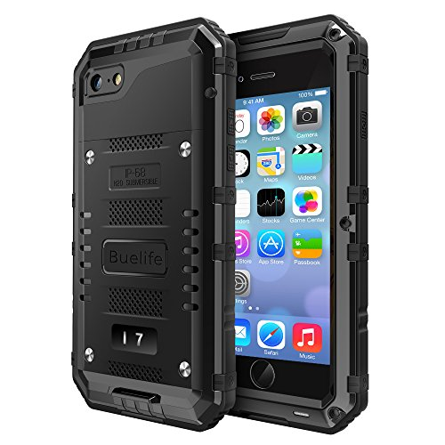 iPhone 7 Case,HEAVY DUTY [Waterproof] Drop Proof Full-body Rugged Case with Built-in Screen Protector Rugged Armor Hybrid Hard Shell for iPhone 7 4.7 Inch-Black
