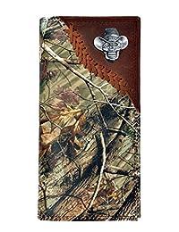 Custom New Badger Cowboy Skull Long Checkbook Realtree AP Camo Wallet