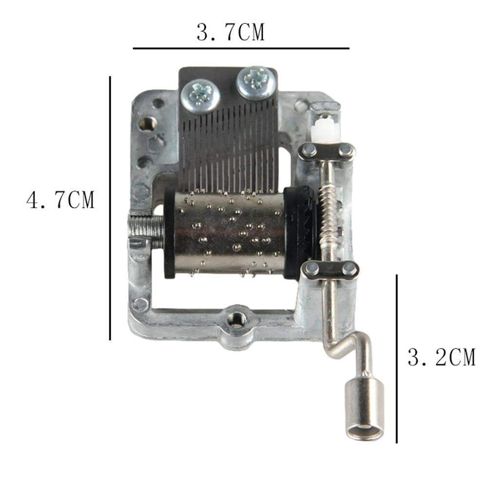 Caja de m/úsica mec/ánica de manivela Caja de m/úsica de bricolaje movimiento para regalo de cumplea/ños de vacaciones