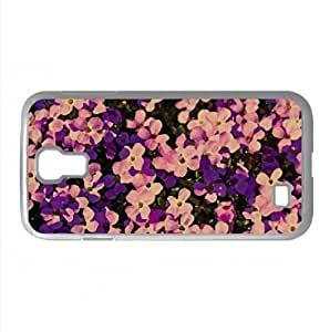 A Lot Of Purple Flowers Watercolor style Cover Samsung Galaxy S4 I9500 Case (Flowers Watercolor style Cover Samsung Galaxy S4 I9500 Case)