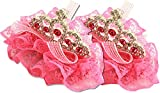 TDmall Girls Hair Clip Pin Princess Crown With Crystals Lot of 2 Set Lace Bow Birthday