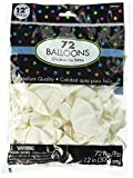 Solid Color Latex Balloons | White | Pack of 72 | Party Decor