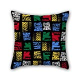 PILLO geometry throw pillow case 16 x 16 inches / 40 by 40 cm for home,teens,couples,boys,drawing room,kids boys with twice sides
