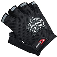 Ylucky Half Finger Cycling Gloves Outdoor Adjustable Sport Bicycle Gloves Gel Padded Mountain Road Bike Riding Gloves Shock-Absorbing Breathable Anti Slip Summer Mitten for kids Children