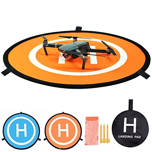 FSLabs Drone and Quadcopter Landing Pad Accessories 32 inch RC Aircraft Soft Landing Gear Surface, Waterproof Nylon For DJI Tello Mavic Phantom 3 4 spark Mavic Pro Air