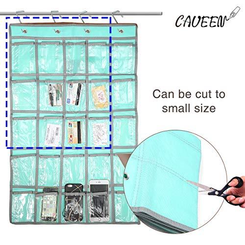 - Caveen Classroom Pocket Chart Sundries Closet Pocket Chart for Cell Phones Holder Wall Door Hanging Organizer (25 Pockets) (Blue)