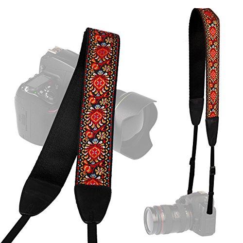 LYNCA Camera Shoulder Neck Soft Vintage Jacquard Weave Strap Belt for SLR DSLR Mirrorless Digital Cameras Nikon