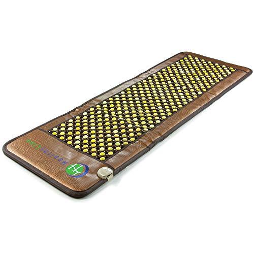 HealthyLine Far Infrared Heating Pad - Natural Jade and Tourmaline Pebble JT Mat Full 7224 Firm InfraMat Pro®