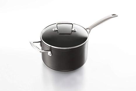 Le Creuset Cazo, Aluminio Anodizado, Negro, 16 cm