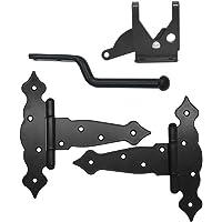 2 stuks (8 inch) NUZAMAS T-Strap Heavy Duty Shed Scharnieren + deurvergrendeling Set, Gate Strap Scharnier, deur Barn…