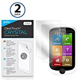 Magellan Cyclo 505 Screen Protector, BoxWave [ClearTouch Crystal (2-Pack)] HD Film Skin - Shields From Scratches for Magellan Cyclo 505, 315