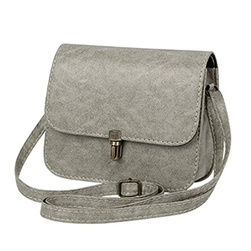 (ANANXILA Mini Handbag Shoulder Bag Women Satchel Shopping Purse Crossbody Bags Gray 15cmx19cmx6cm )