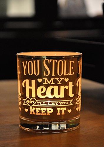 Premium Glass Tealight Candle Holder - Creative & Stylish Vintage Centrepiece Décor Accessory, Romantic & Elegant Silver/Pink Design, Best Anniversary, Wedding, Engagement Or Valentine's Day Gift