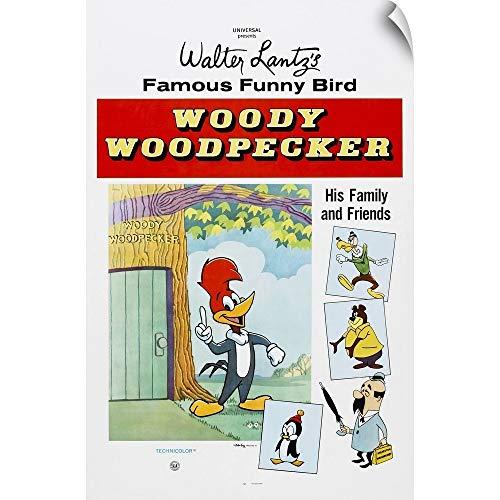 Canvas on Demand Wall Peel Wall Art Print Entitled Woody Woodpecker, 1950's 24