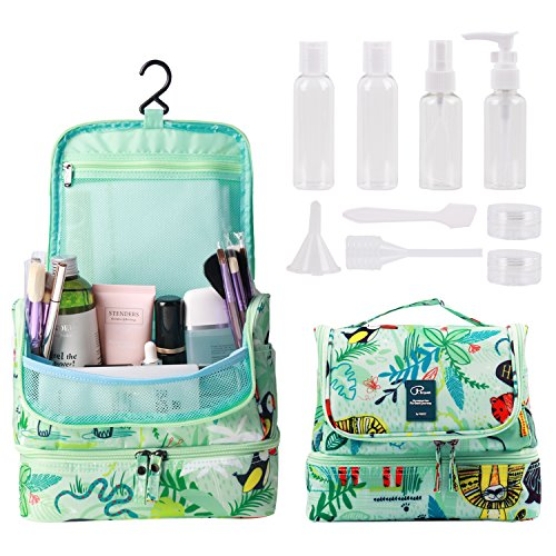 62c0df512 Tuscall Hanging Toiletry Bag + Travel Bottles Set, Premium Travel Kit for  Men and Women