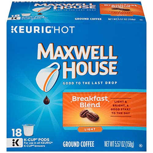Maxwell House Breakfast Blend Ground Coffee K-Cup Pods, 18 ()