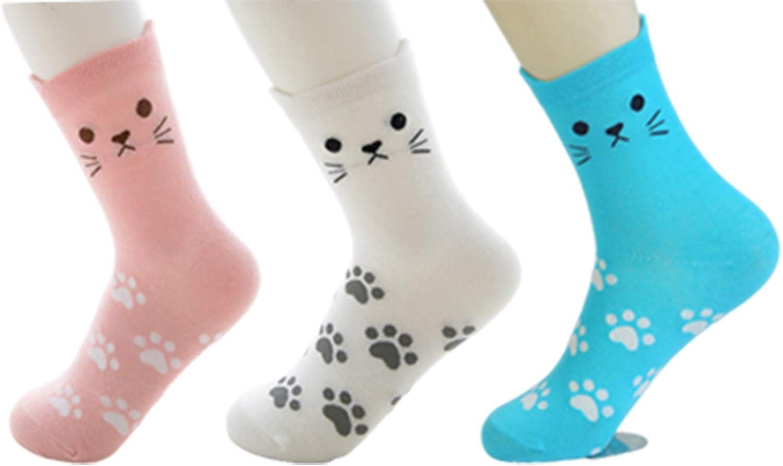 Women's Girls Novelty Funny Crew Socks,Crazy Cute Animal Design Socks Cotton,Girl's Gift