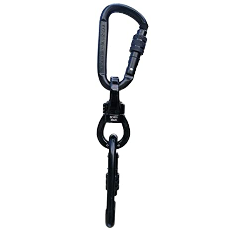 CARPEAK Heavy Duty 35 kN Swing Swivel with 2 Climbing Carabiner Set, Safety Tree Swing Hanging Kit, Rotational Device for Tire Swing, Hanging Chair, ...