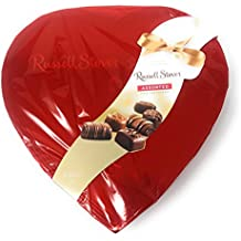 (Pack of 2) Russell Stover Gift Box with Fine Assorted Chocolates, 14 Ounce ea. (Red Foil Heart 14 oz)