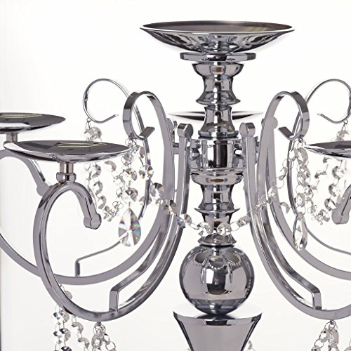 "Used, Efavormart 27.5"" Tall Silver Metal Candelabra Chandelier for sale  Delivered anywhere in USA"