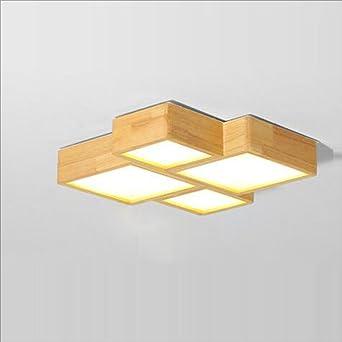 Kreative einfache holzdecke moderne große wohnzimmer lampe ...