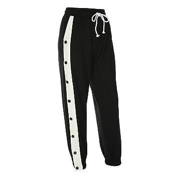 OJJFJ Leotardos Pantalones De Cintura Alta Pantalones De Algodón ...
