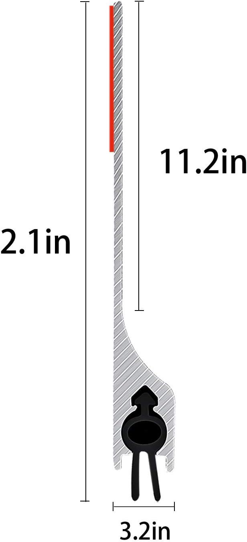 Bottom Seal Strip Noise Blocker USUKUE Under Door Draft Stopper Black Aluminium Sweep Anti Mouse Bite 2 W x 36 L