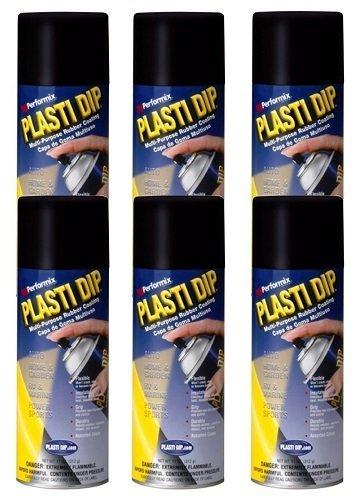6 PACK PLASTI DIP Mulit-Purpose Rubber Coating Spray BLACK 11oz Aerosol by Plasti Dip