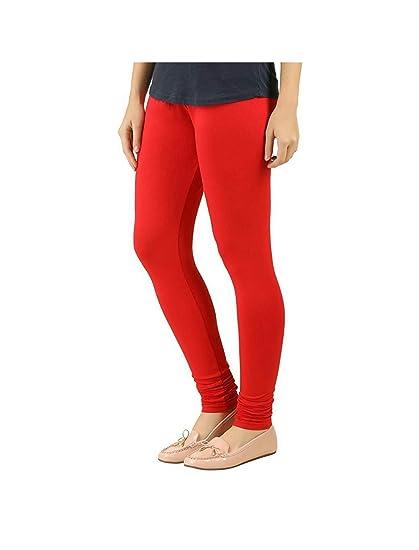 e6f87b579de987 Red Colour Leggings for Women Ankle Length Leggings Lycra Cotton Free Size  Comfortable Stylish Leggings: Amazon.in: Clothing & Accessories