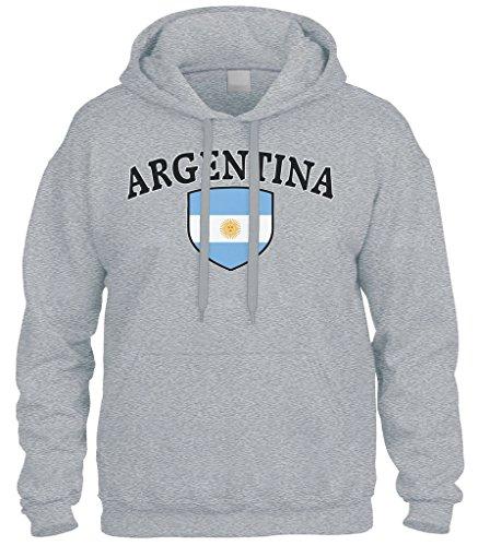Cybertela Argentina Flag Crest Shield Sweatshirt Hoodie Hoody