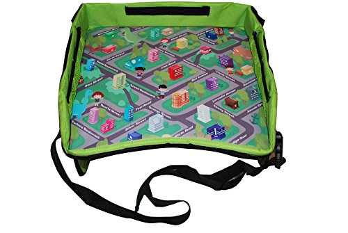 Kids Travel, Play & Learn Lap Tray - Perfect Activity & Snack Tray - Car Road Trips, Plane, Train, and Bus Journeys - Carry Bag Included